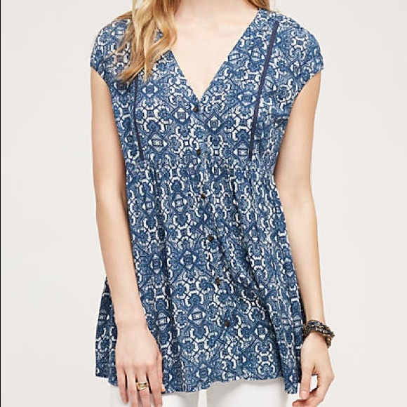 f7d79cda47a Anthropologie Tops - Anthropologie Vanessa Virginia Ladder Lace Tunic